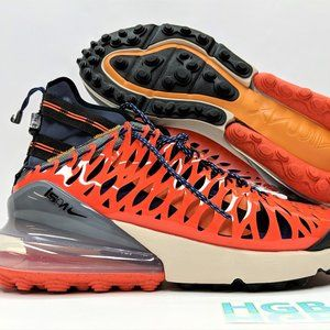 Nike Air Max 270 ISPA Men's Black Blue Orange Trai